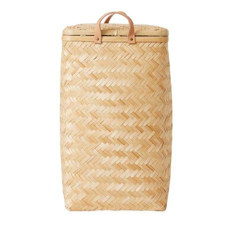 OYOY Laundry basket Sporta brown bamboo ø34x55,5cm