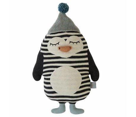 OYOY Umarmung Kissen Baby Bob Pinguin Baumwolle 18x26cm