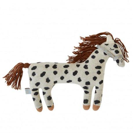 OYOY Knuffel kussen Little Pelle pony katoen 24x20cm