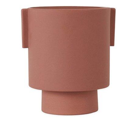 OYOY Pot Inka Kana sienna moyenne en céramique ø15x16cm