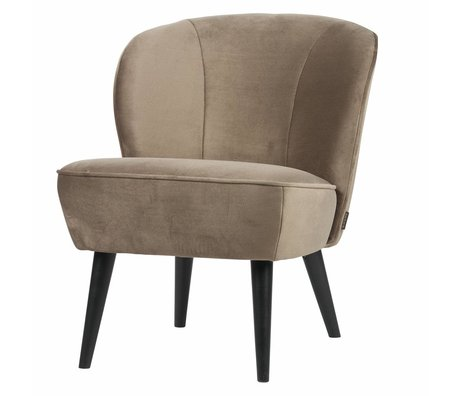LEF collections Armchair sara olive gold velvet polyester 70x59x71cm