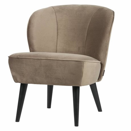 LEF collections Fauteuil sara velours doré olive polyester 70x59x71cm