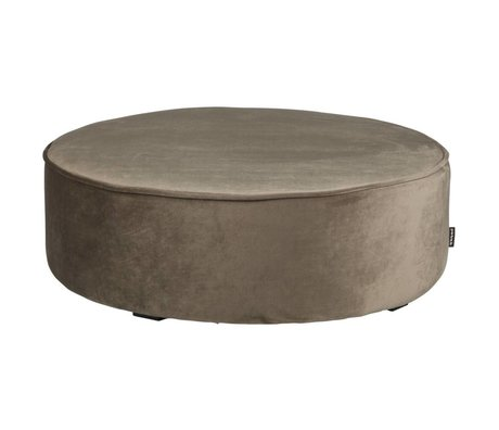 LEF collections Pouf sara XL low olive gold velvet polyester78x26cm
