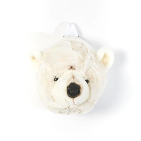 Wild and Soft Backpack Polar bear white textile 18x27x27cm