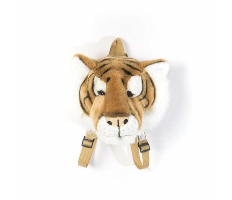 Wild and Soft Rucksack Tiger braun weißes Textil 16x23x23cm
