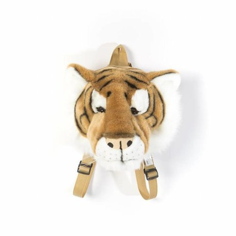 Wild and Soft Sac à dos tigre marron textile blanc 16x23x23cm