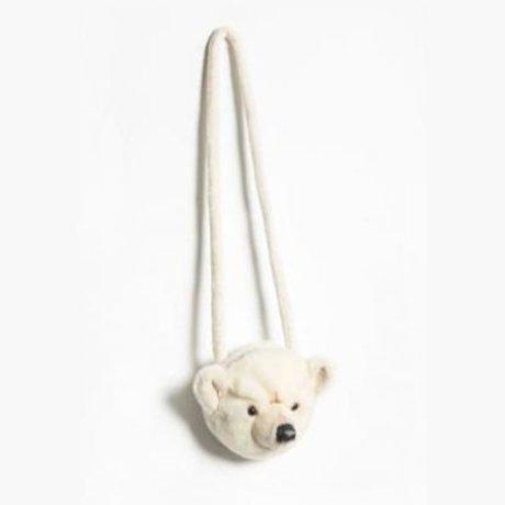 Wild and Soft Sac à bandoulière Ours blanc textile blanc 12x19x15cm