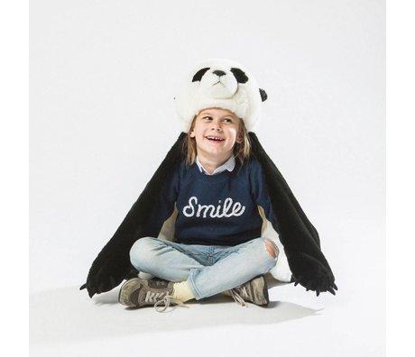 Wild and Soft Verkleidung Panda weiß schwarz Textil 94x117x20cm