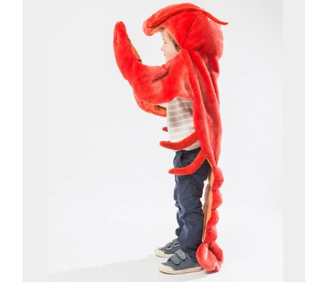 Wild and Soft Vermomming Kreeft rood textiel 104x109x18cm