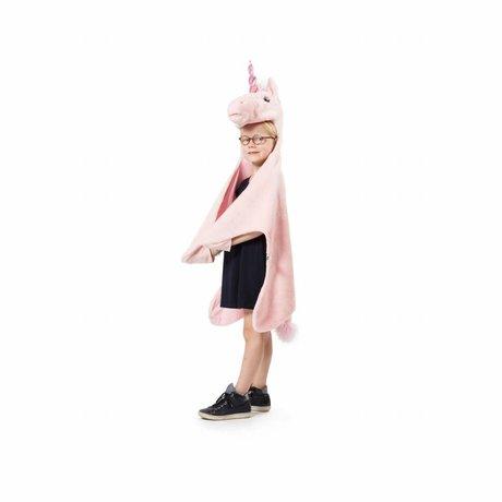 Wild and Soft Vermomming Eenhoorn roze textiel 109x116x30cm
