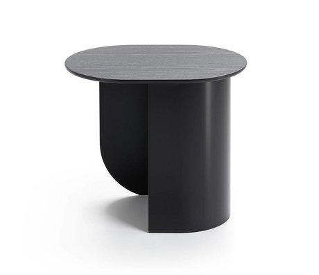 FÉST Sidetable Plateau zwart hout metaal 44x32x40cm