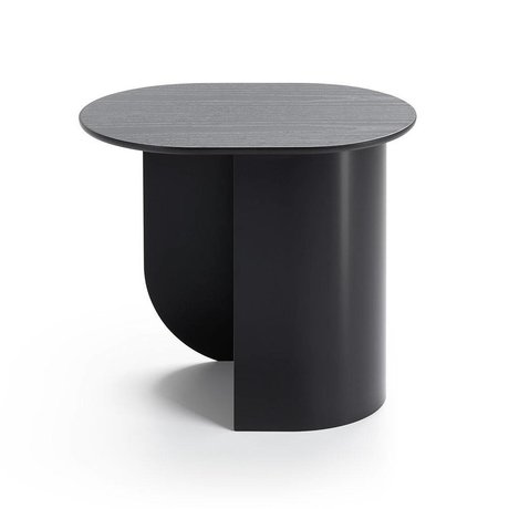 FÉST Sidetable Plateau black wood metal 44x32x40cm