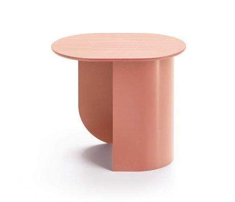 FÉST Beistelltisch Plateau Terra Pink Holz Metall 44x32x40cm