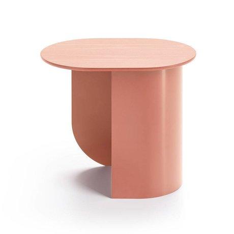 FÉST Sidetable Plateau terra pink wood metal 44x32x40cm