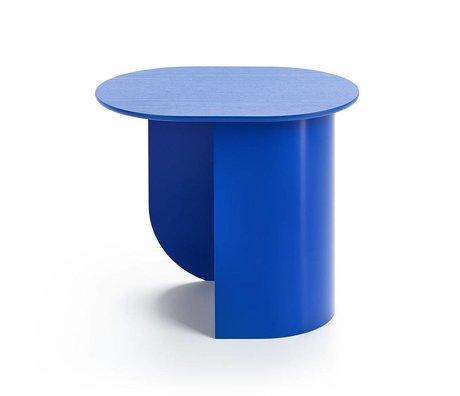 FÉST Sidetable Plateau royal blauw hout metaal 44x32x40cm