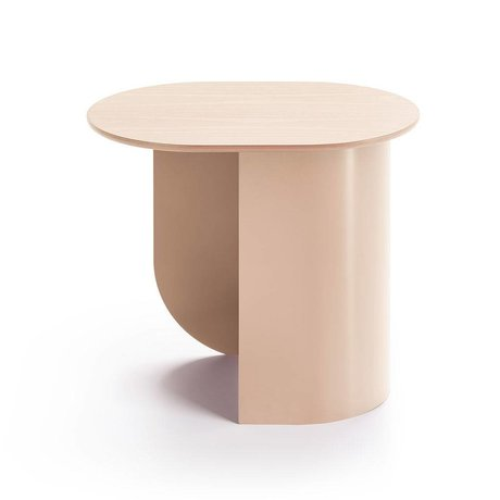 FÉST Sidetable Plateau sand brown wood metal 44x32x40cm