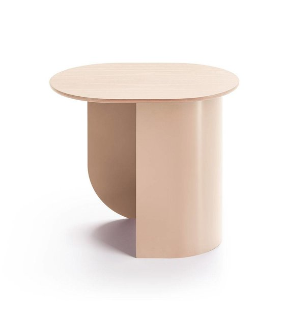 Sidetable Bruin Hout.Sidetable Plateau Zand Bruin Hout Metaal 44x32x40cm