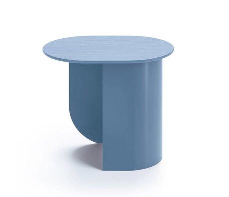 FÉST Plateau latéral pigeon bleu bois métal 44x32x40cm