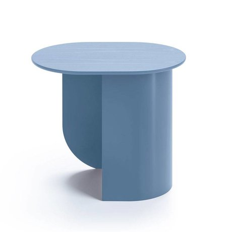 FÉST Sidetable Plateau pigeon blauw hout metaal 44x32x40cm