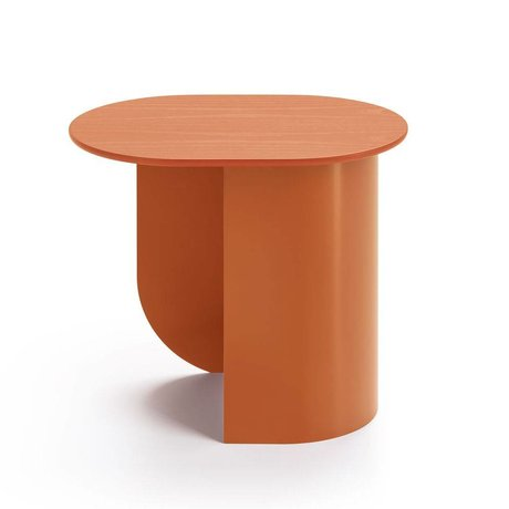 FÉST Sidetable Plateau caramel brown wood metal 44x32x40cm