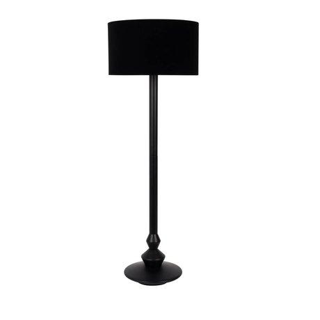 Zuiver Floor lamp Finlay black wood velvet textile ø50x150cm