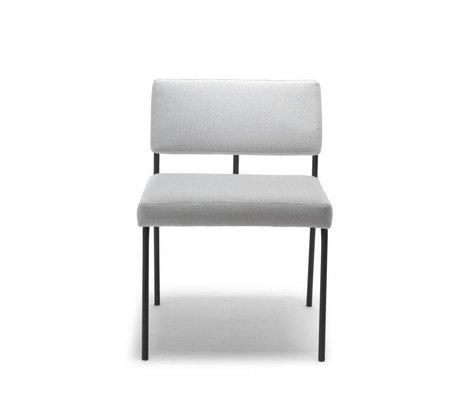 FÉST Chaise de repas Monday gris clair Conseil Zinc 167 textile 50x55x78cm