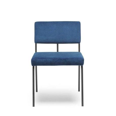 FÉST Dining chair Monday blue Seven 49 Navy textile 50x55x78cm