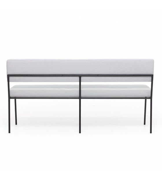 Pleasing Fest Dining Room Bench Monday Light Gray Board Zinc 167 Textile 160X55X78Cm Ocoug Best Dining Table And Chair Ideas Images Ocougorg