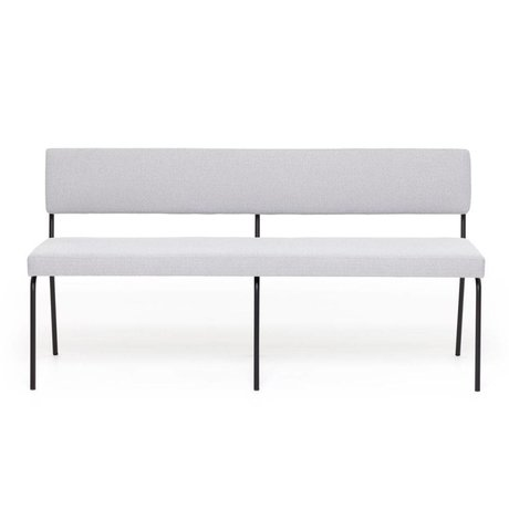 FÉST Dining room bench Monday light gray Board Zinc 167 textile 160x55x78cm