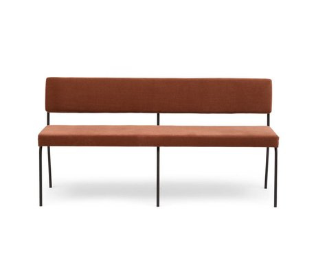 FÉST Dining room bench Monday brown Royal Magnolia 160 textile 160x55x78cm