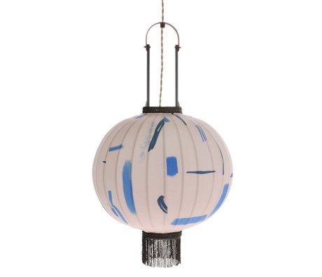 HK-living Tissu en bambou multicolore M pour les lanternes, Ø38x51cm
