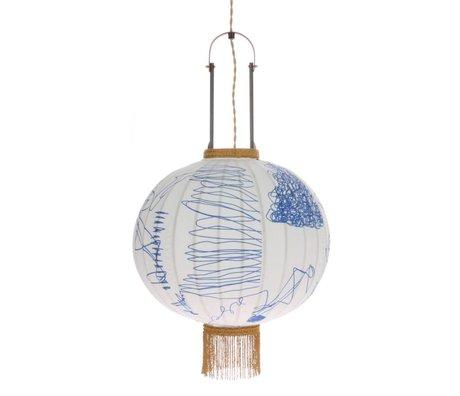 HK-living Lantern Pencil multicolour bamboo fabric M Ø38x51cm