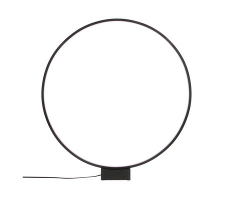 HK-living Lampe de table Luminous Circle noir Ø60x65cm en aluminium