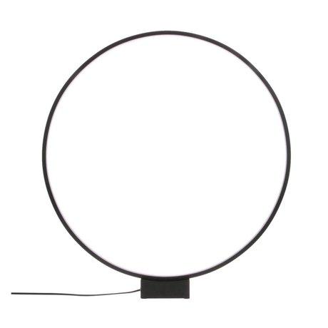 HK-living Tischleuchte Luminous Circle schwarz Aluminium Ø60x65cm