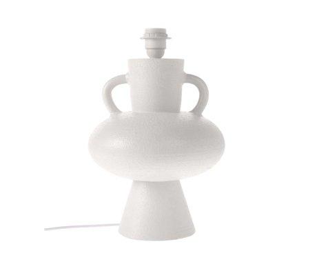 HK-living Pied de lampe blanc en céramique L Ø24x38cm