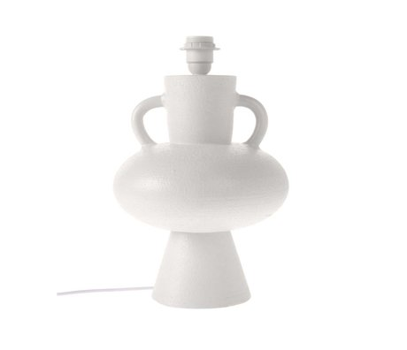 HK-living Pied de lampe en céramique blanche L Ø24x38cm