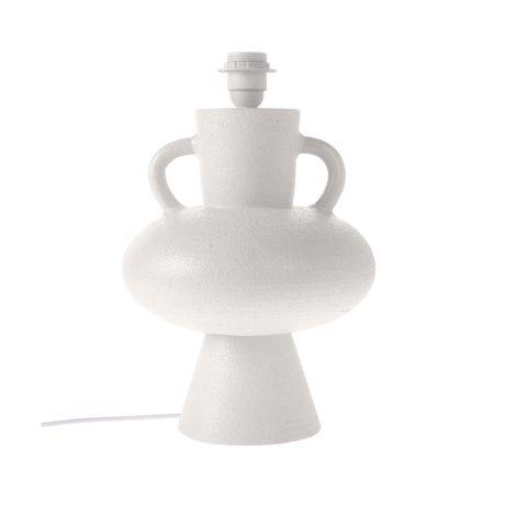 HK-living Lampensockel aus weißer Keramik L Ø24x38cm