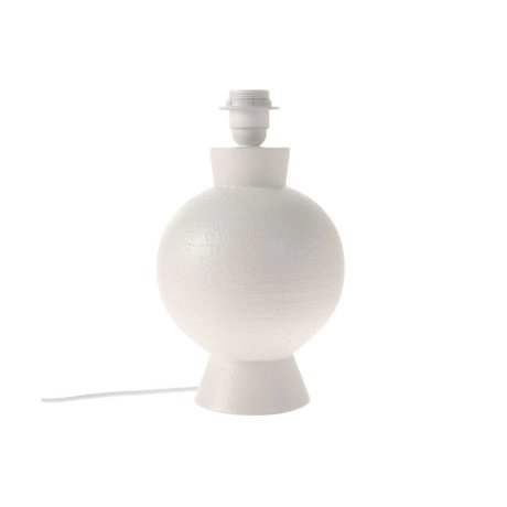 HK-living Pied de lampe blanc en céramique M Ø18x29cm