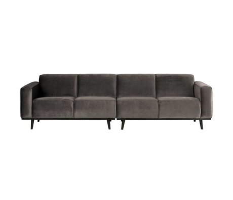 BePureHome Bank Statement 4-seater taupe velvet 280x93x77cm