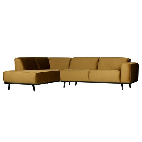 BePureHome Ecksofa Statement links honiggelb samt 274x210x77cm