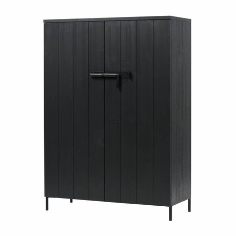 LEF collections Cabinet Bruut pin noir 100x41,5x140,5cm