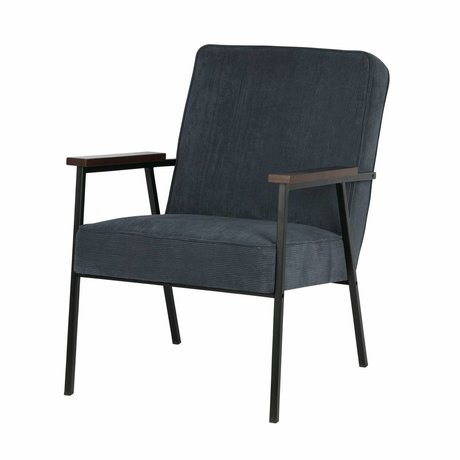 LEF collections Fauteuil Sally staal blauw 60x73x70cm