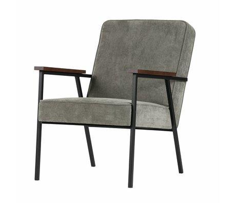 LEF collections Armchair Sally gray green 60x73x70cm