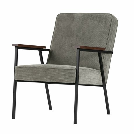 LEF collections Fauteuil Sally gris vert 60x73x70cm