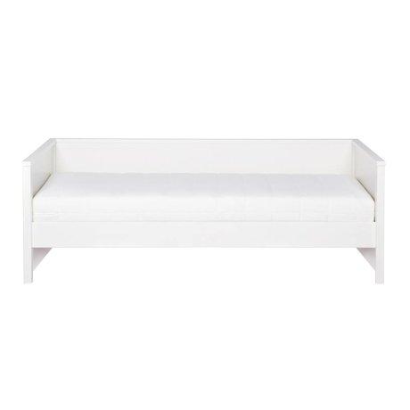 LEF collections Banc de lit Nikki pin blanc 208x100x73cm