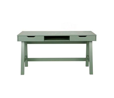 LEF collections Bureau Nikki jade groen grenen 140x62x75cm