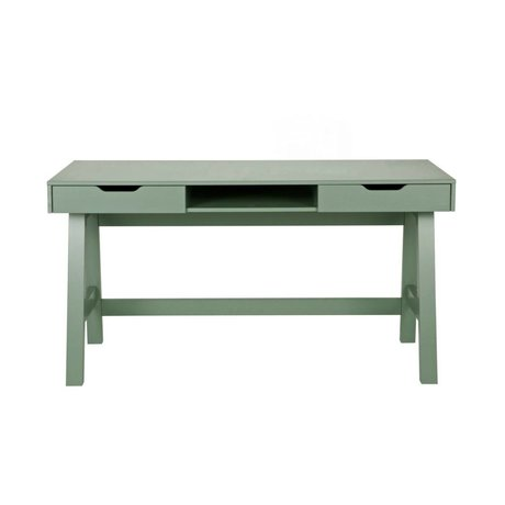 LEF collections Desk Nikki jade green pine 140x62x75cm