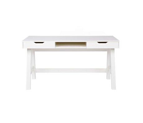 LEF collections Schreibtisch Nikki White Pine 140x62x75cm