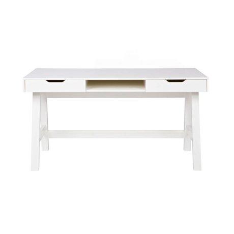 LEF collections Desk Nikki white pine 140x62x75cm