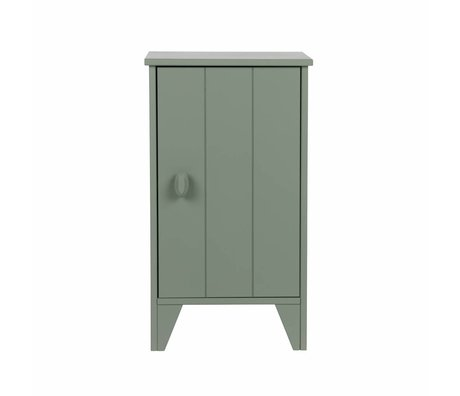 LEF collections Nightstand Nikki junior jade green pine 37x35x63,5cm